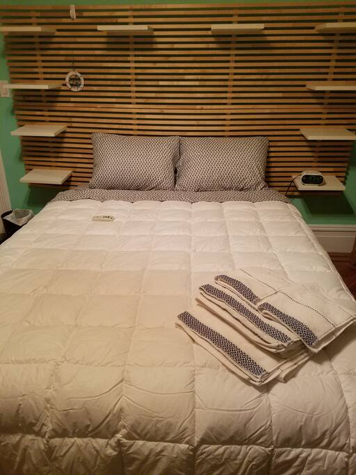 Fresh Sheets, Pillows & Towels.