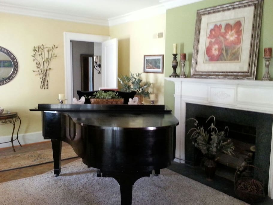 Sentimental item: my mother's grand piano.