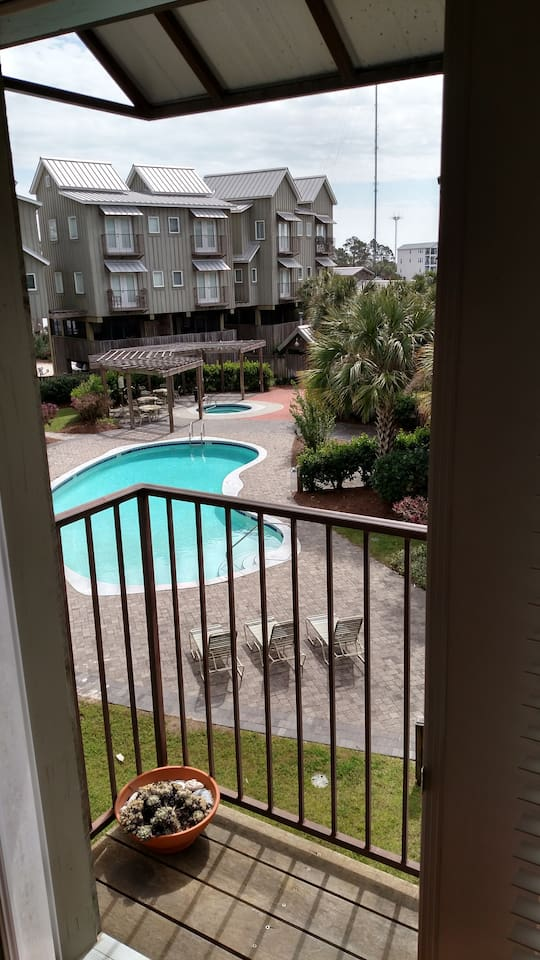 Pool Deck from Second Floor