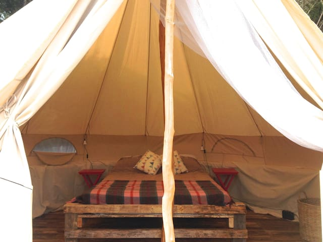 Flax Bush Tent beachfront glamping