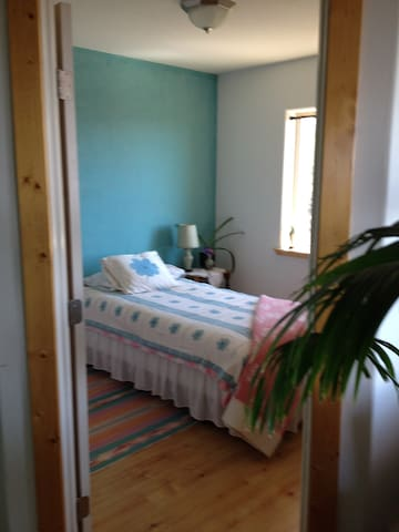 Comfortable cozy room with great view centrally located, near bath room and living room area.