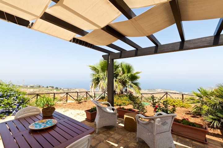 Villa panoramic view on the seaWIFI - Castellammare del Golfo