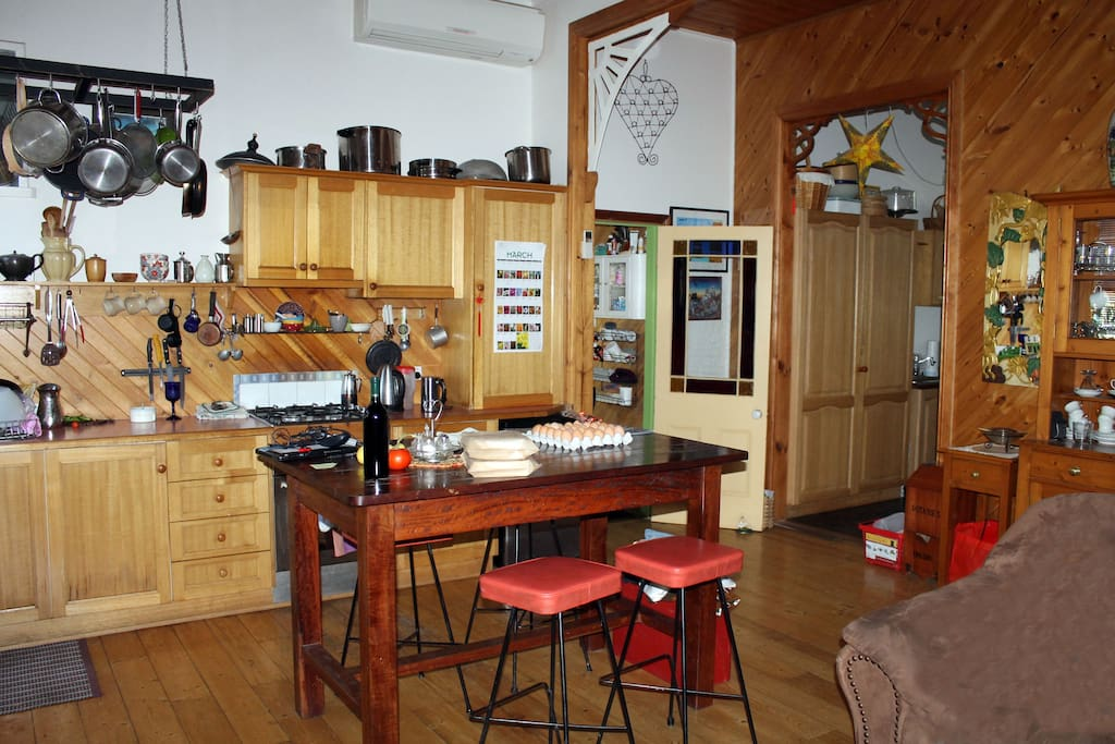 Country kitchen with all the modern conveniences