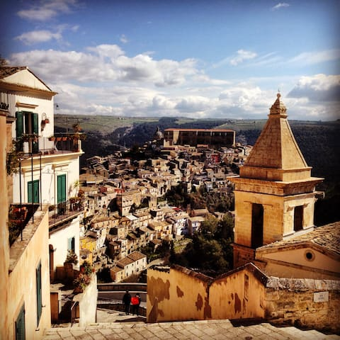 "View of Ibla from ""Via Scale"""