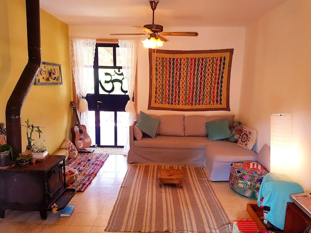 A living room in the house with air conditioner