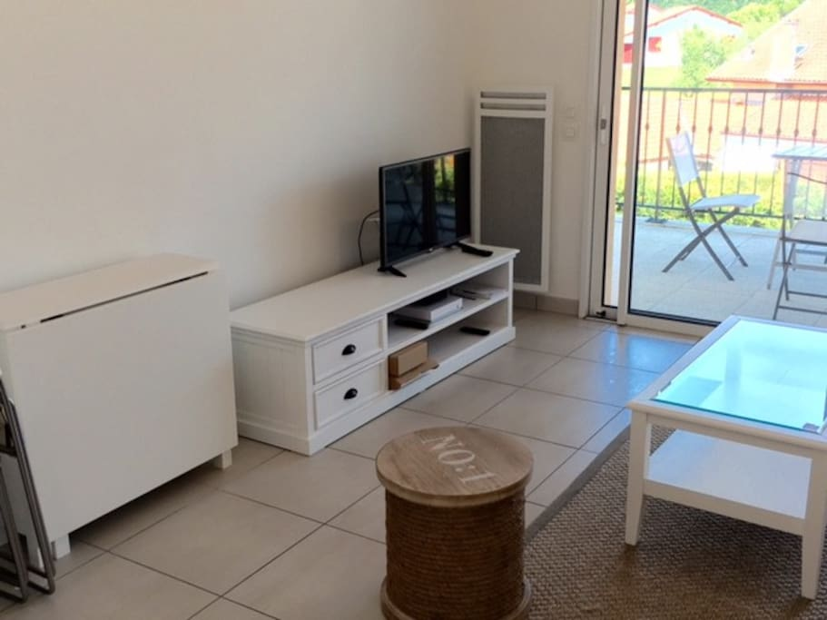 Salon avec TV, Internet, WIFI