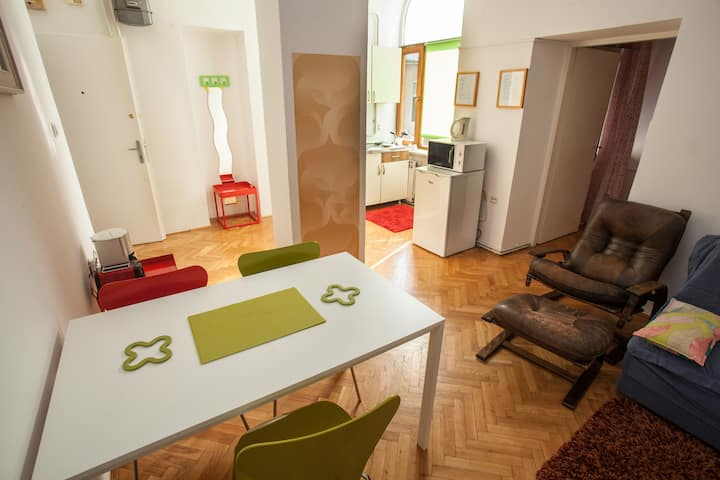 Cozy One-bedroom ap.near Main Square,free parking