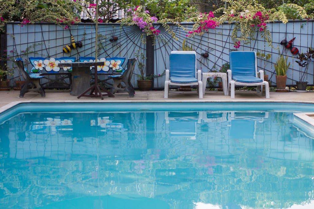 The pool is maintained daily for our guests enjoyment.