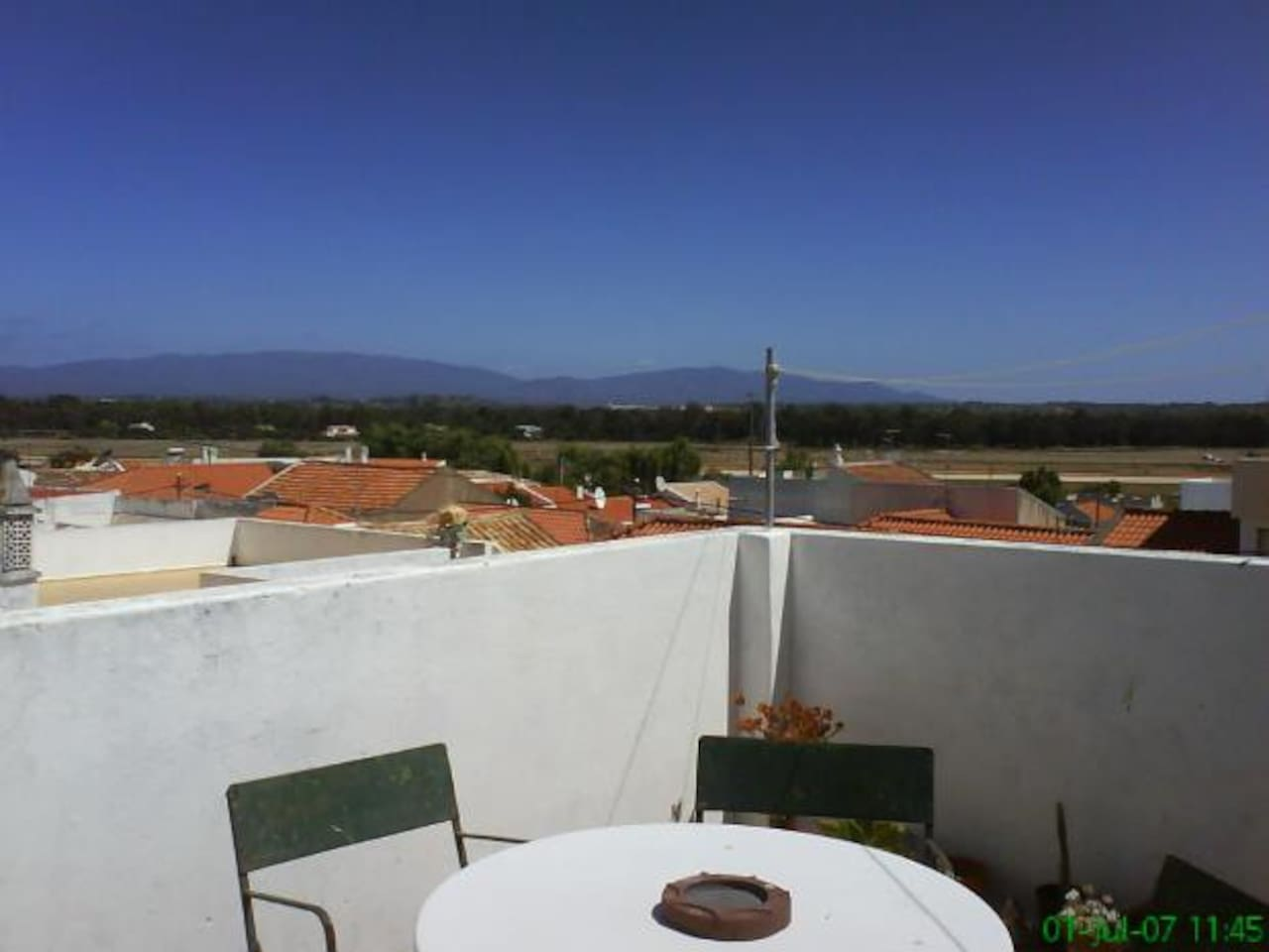 Terrace with view to Monchique Montains ( highest point  of Algarve)