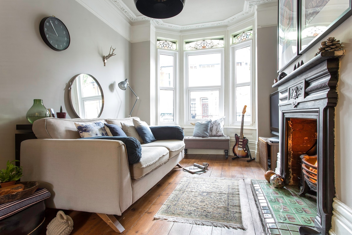 Nice The Cosy Living Room With A Very Comfortable Sofa. (Please Note The Fire Is