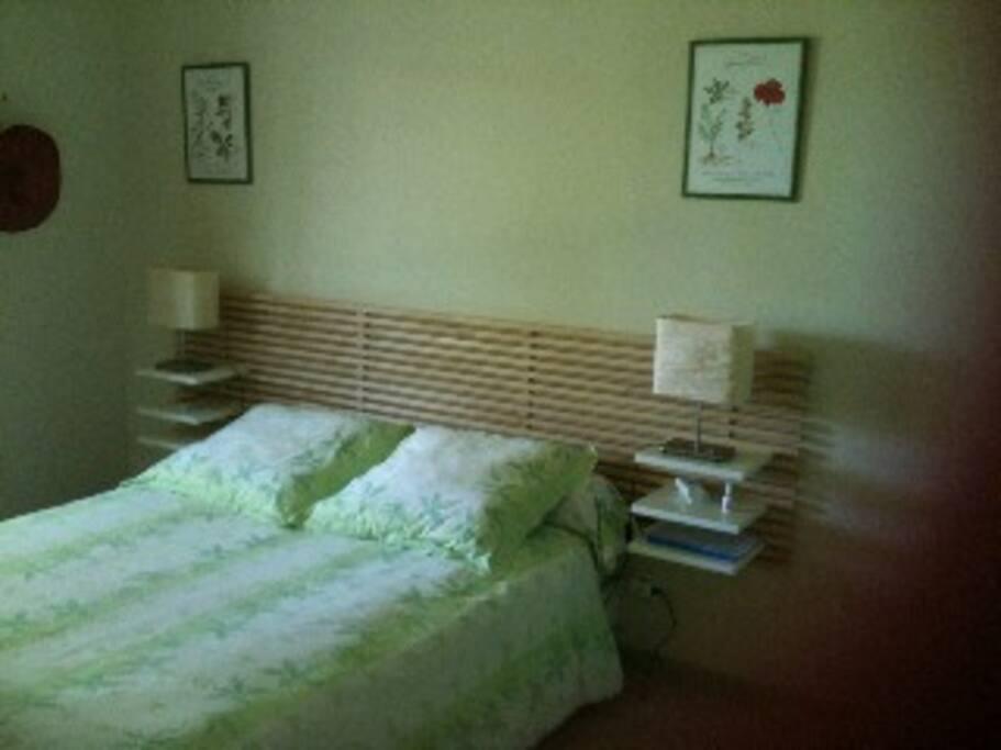 Chambre 1 : lit double et placard
