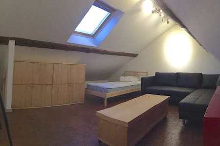 Bed+double sleeping couch-bed - Leuven - 公寓