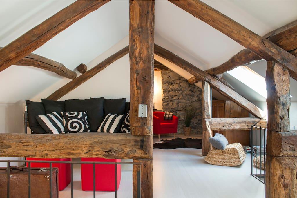 upper attic floor - living