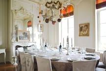 Salle à manger du Château pour 14/16 personnes