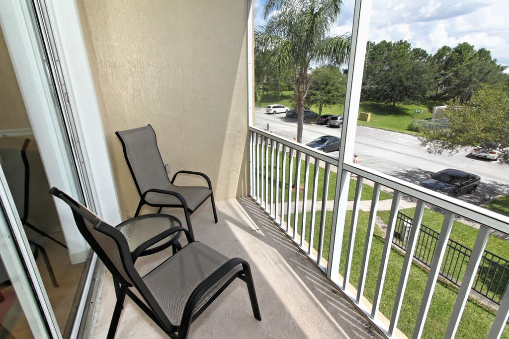 This balcony is a great place to wake up or end the day. Why not sit outside in the morning and sip a glass of OJ or a cup of coffee and watch the sun rising as you start the day.