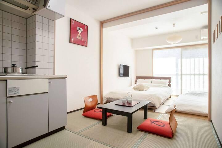 京都駅近く!予約制の有料駐車場あり♪アパートメントホテル☆キッチン付き和室 201 501 601