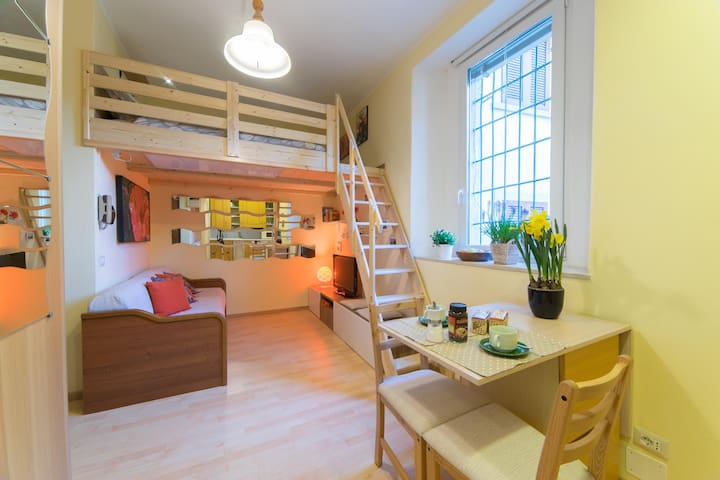 Small furnished studio in the historic center - Lovere