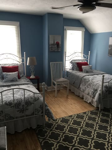 Twin beds. Two guests