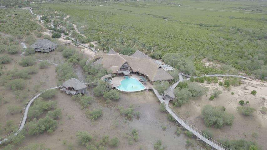 Flamingo Bay house. Barra beach, Inhambane.