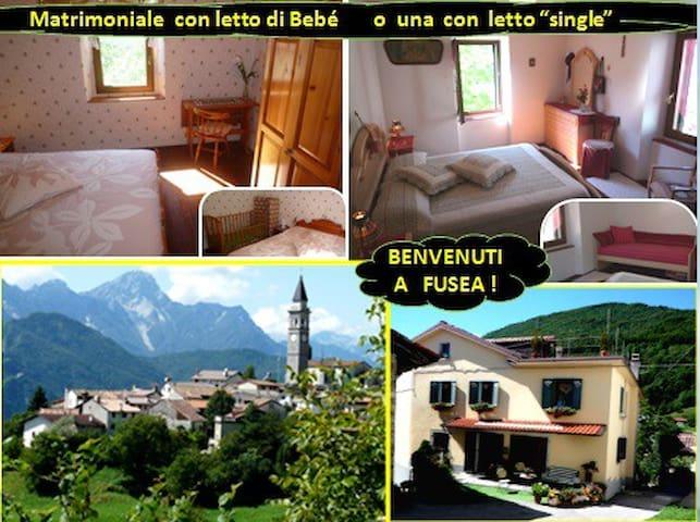 """Coppia con Bimbo """"gratis fino a 4 anni a 696m alt. - FUSEA deTolmezzo"""