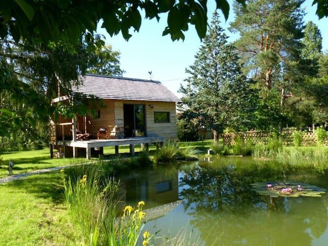 Le bain de campagne, cabane et spa