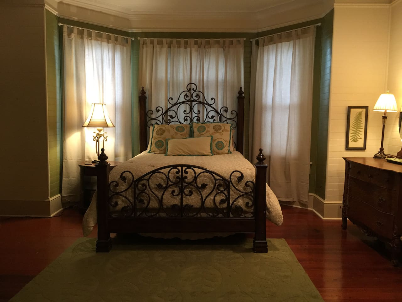 Sleep well in the most comfortable queen size bed with fine linens!