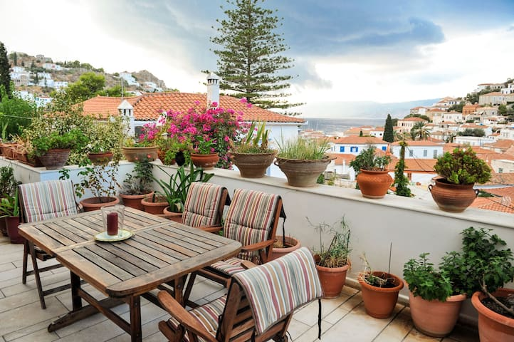 Hydra town Traditional villa panoramic Sea view