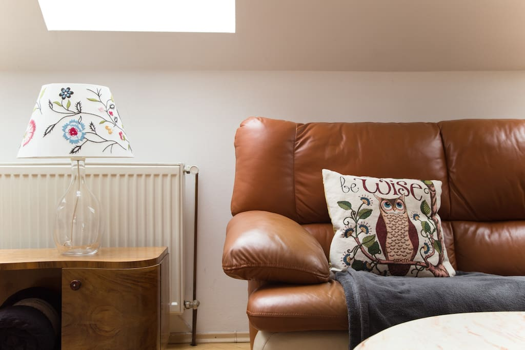shared living room with comfty sofa