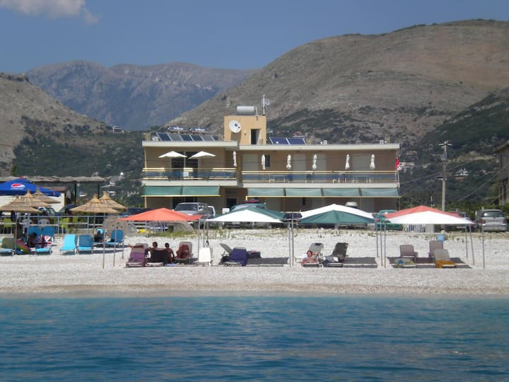 Vila on the south Albanian beach (0