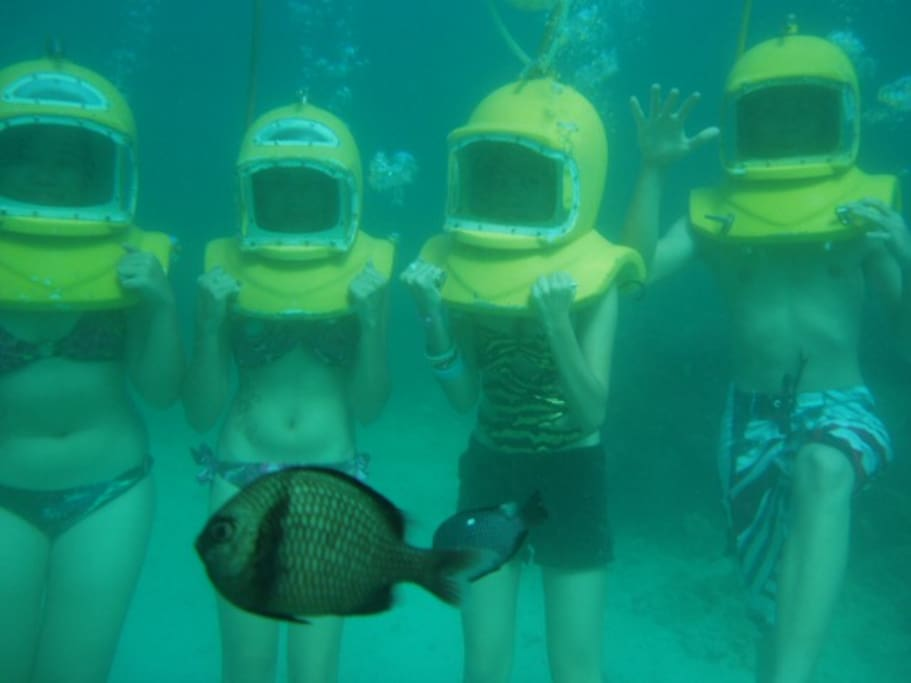 Underwater photography for your adventure dives. Some activities are easy even kids can do it.