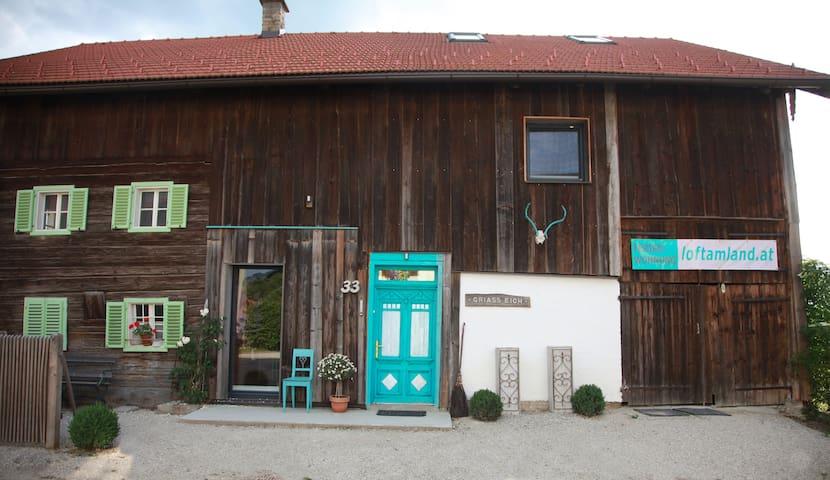 Loft am Land Design-Ferienwohnung - Dorfbeuern - Loft空間