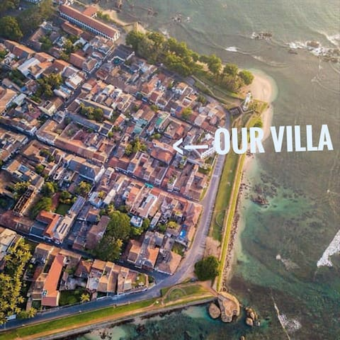 Different view of the Fort from the Air. Our villa is just in close proximity to the Lighthouse visible in the picture