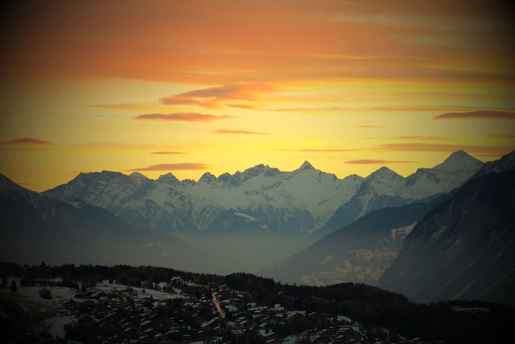 A small part of our very large view of the alps