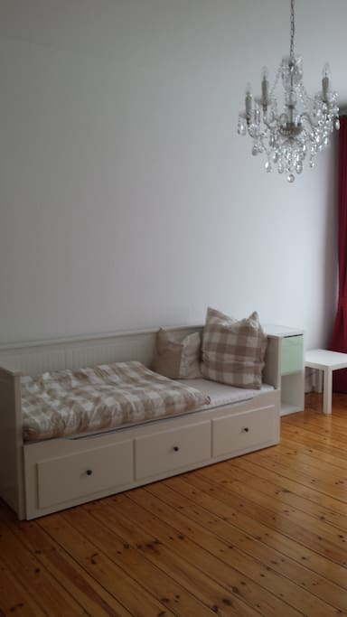 Bright furnished room for two