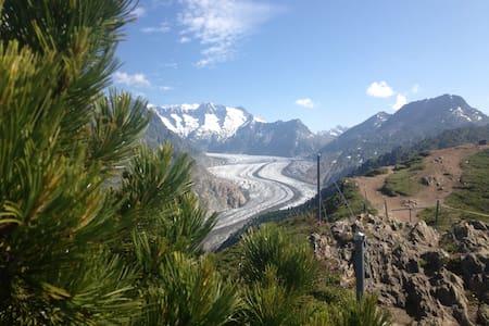 Alphütte , Traumhaftes Bergpanorama - Riederalp - Almhütte