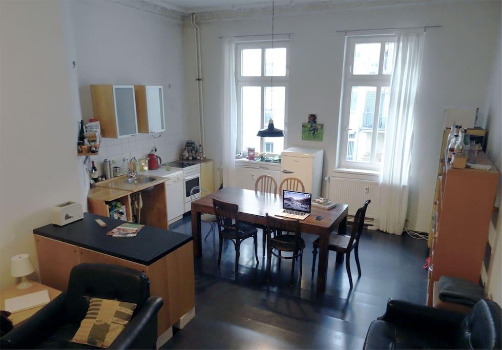 die Wohnküche - das Herzstück der Wohnung