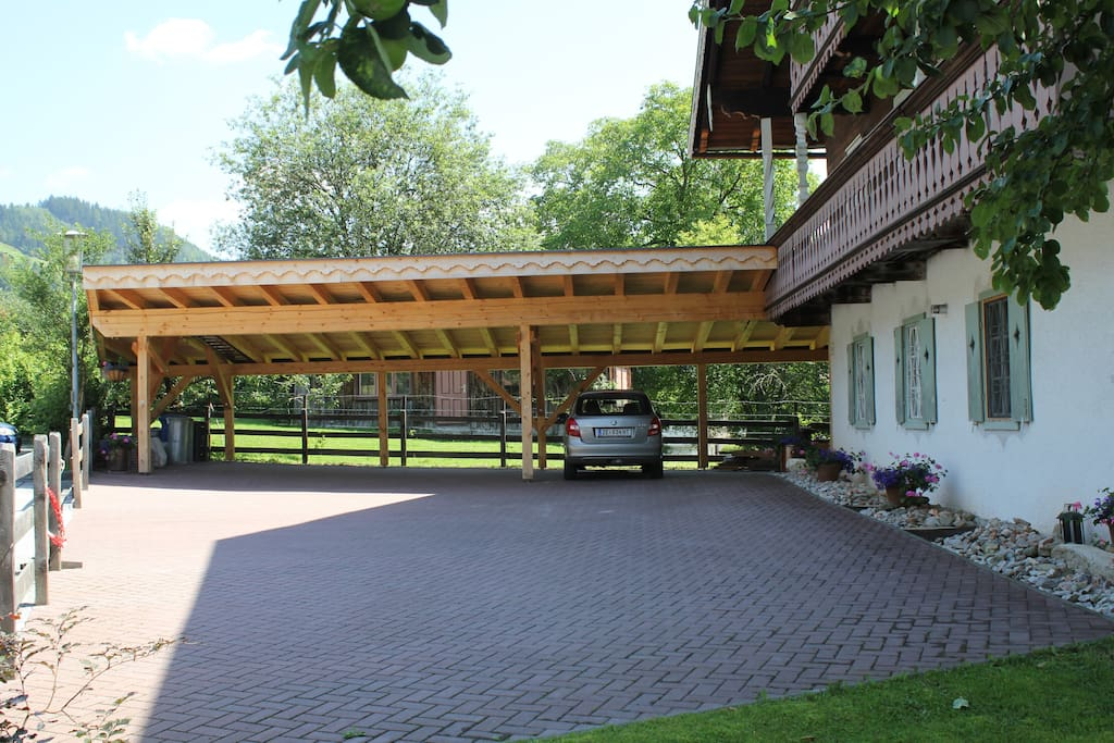 Our car port in summer