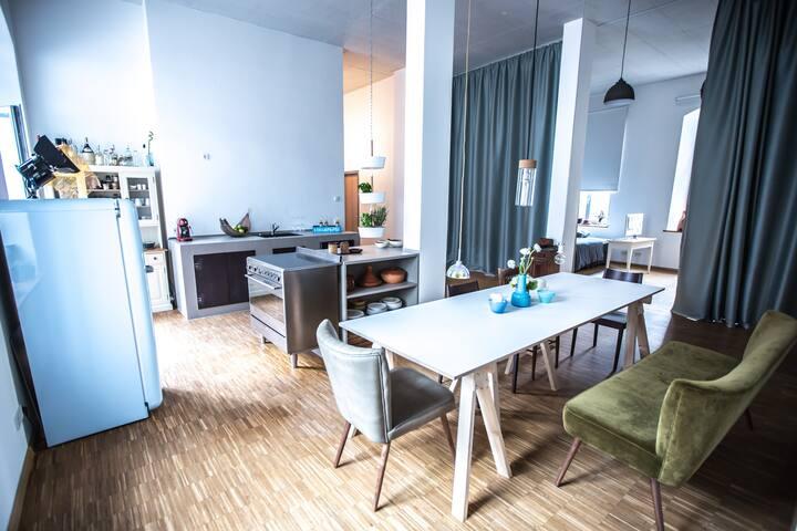 Stylisches Künstler-Loft:Wow-Effekt - Freiburg im Breisgau - Loft