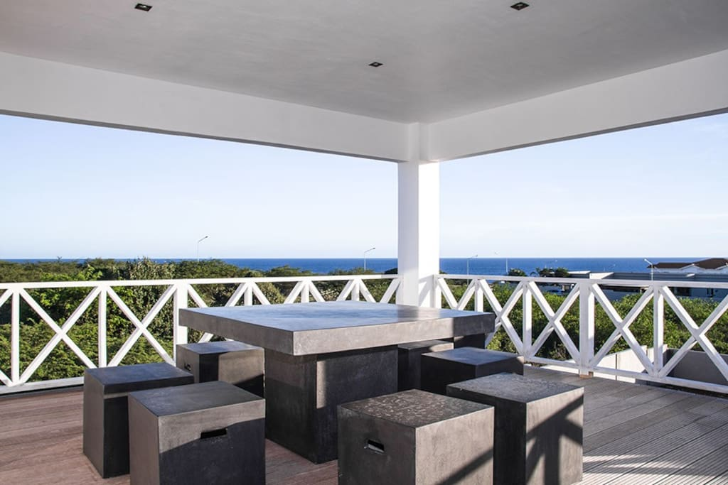 Seaview terrace with outside table