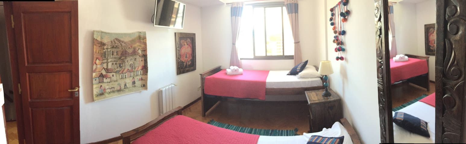 Double Bed Room + Shared Bathroom Plaza Belgrano