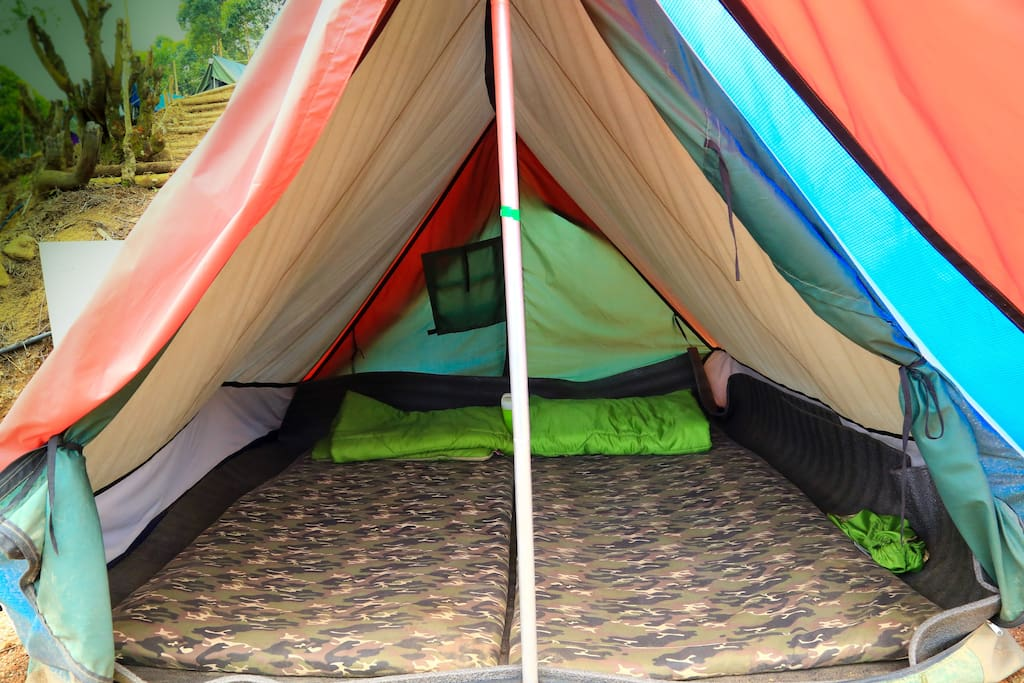 Beds with sleeping bags