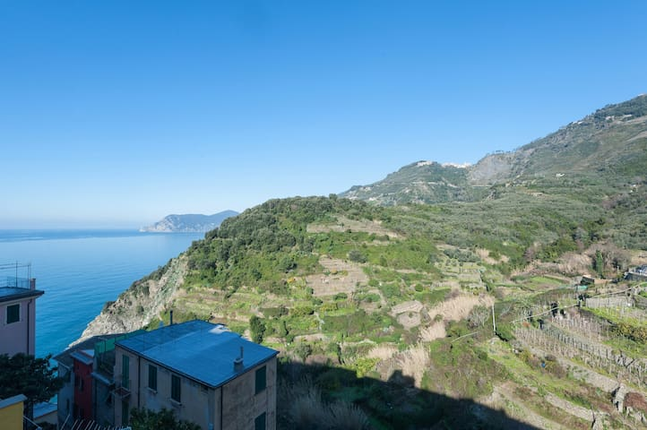 5 Terre's heart, IL TARAGIO 1, Beautiful sea view