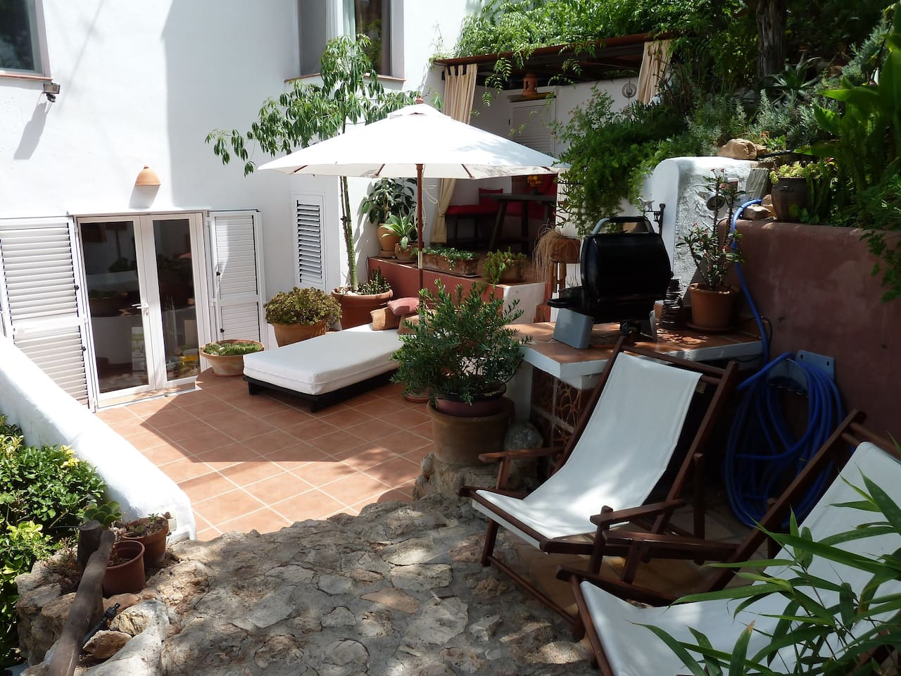 A shady terrace to relax on