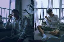 【sine studio】简约风卧室,近贺龙体育馆五一广场地铁口cosy room