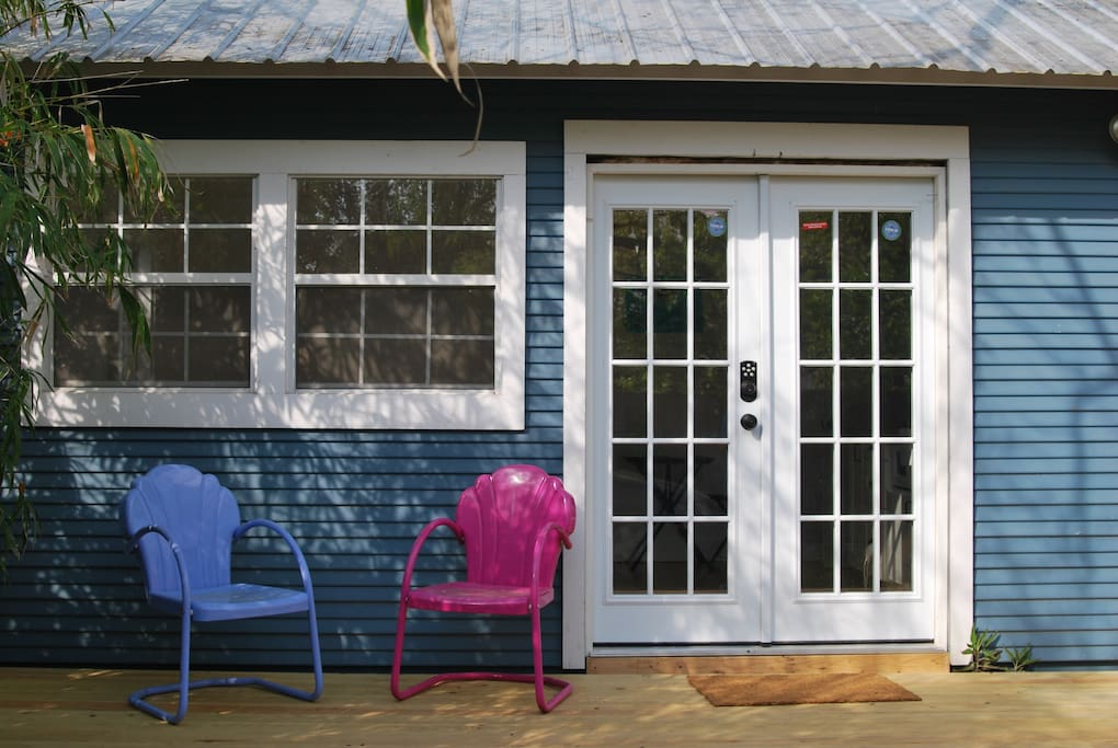Enjoy the sunshine and great weather on your private deck with yard