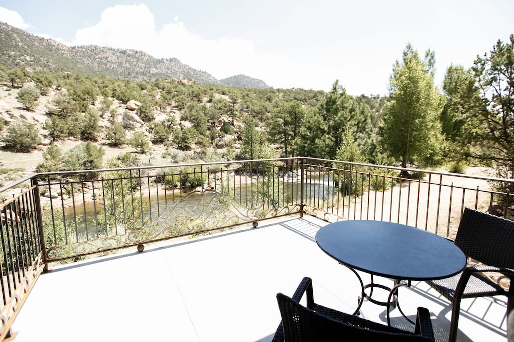 Patio view facing the mountains and the beautiful Arkansas River