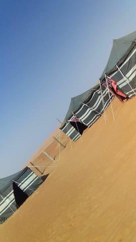 Original bedouin life tent in the desert