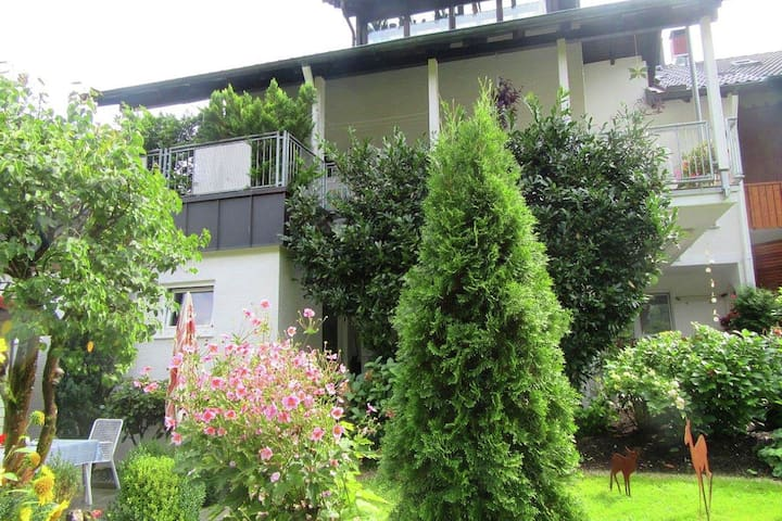 Beautiful apartment near Baden-Baden with covered terrace and garden