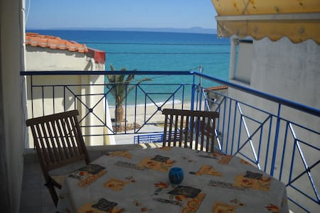 Flat on the beach with perfect view - Πολύχρονο