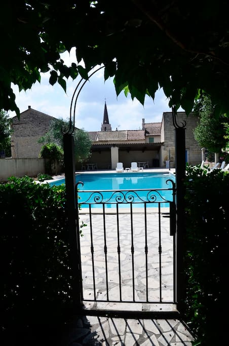 Sunny private pool, yet close to village